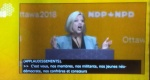 Andrea Horwath addressing the convention